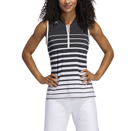 Striped Sleeveless Women's  Polo Shirt