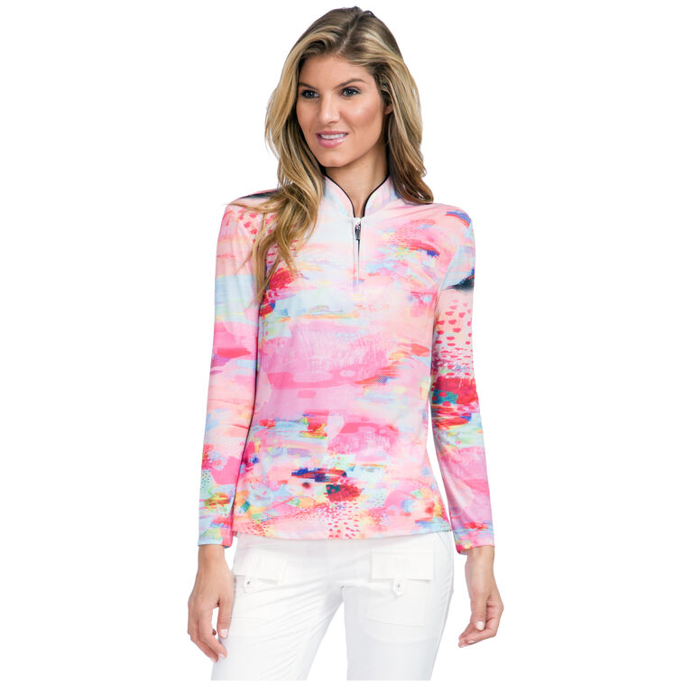 Sunsense - Print Watercolor Quarter Zip