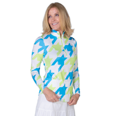 Alternate View 1 of Key West Collection: Long Sleeve Houndstooth Quarter Zip Pull Over