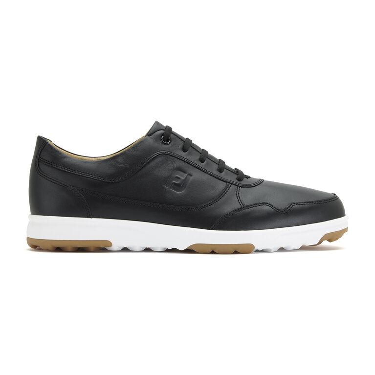 FootJoy Golf Casual Leather Men's Golf Shoe - Black (Previous Season Style)