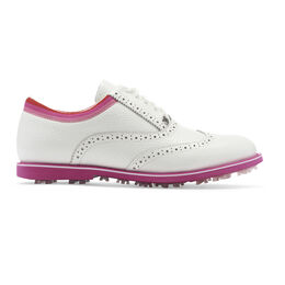 G/FORE Limited Edition Grosgrain Women's Golf Shoe - White/Pink