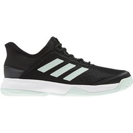 Adizero Club K Juniors Tennis Shoes - Black/Green