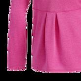 Alternate View 2 of Girls Long Sleeve Full Zip  Heathered Jacket