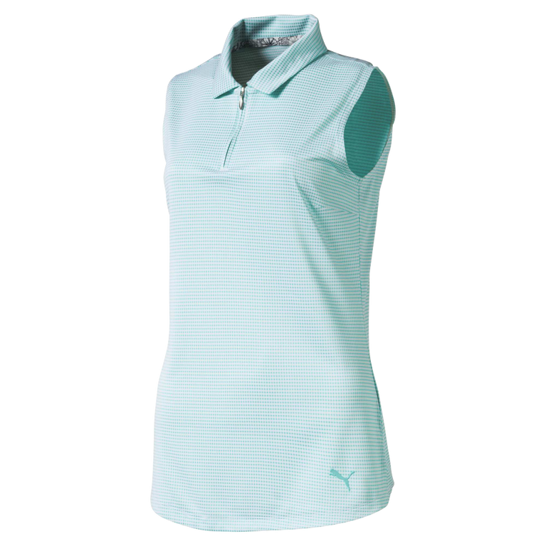 Women's Mini Check Sleeveless Golf Shirt