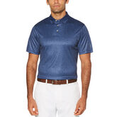 Pro Series Allover Leaf Print Short Sleeve Polo Golf Shirt