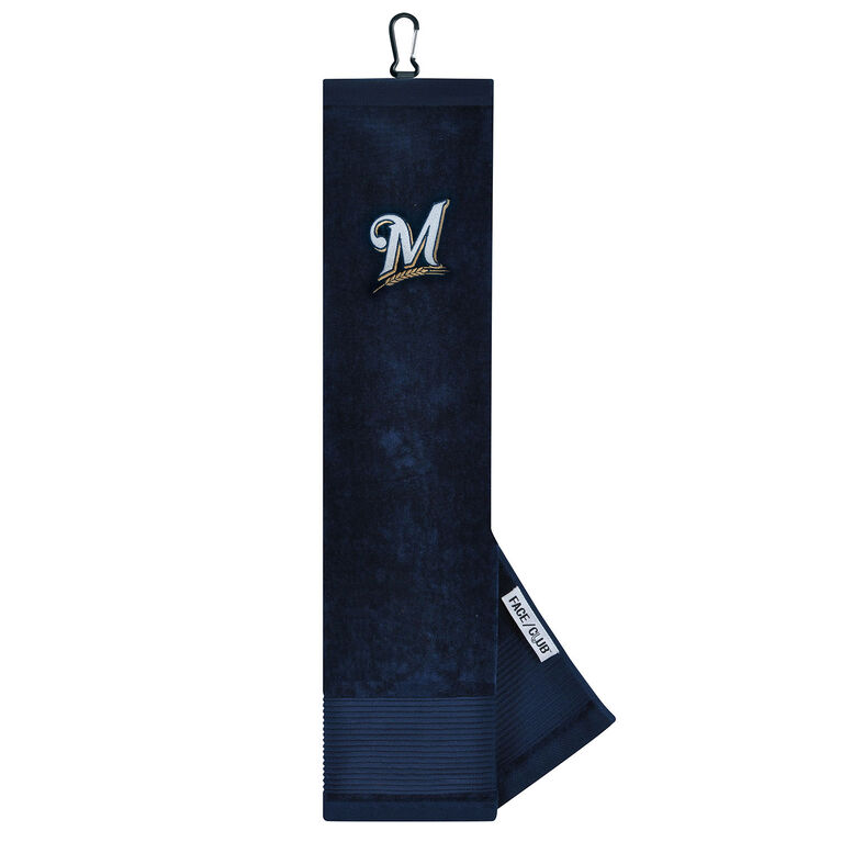 Team Effort Milwaukee Brewers Tri-fold Embroidered Towel