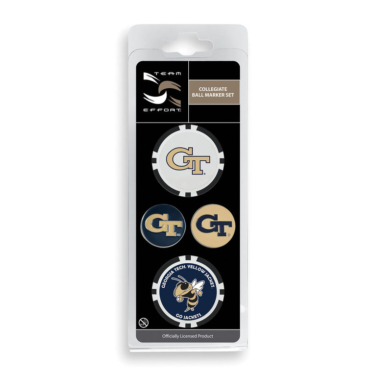 Team Effort Georgia Tech Ball Marker Set