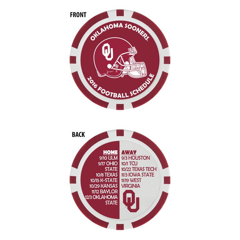 Team Effort Oklahoma Football Schedule Ball Marker