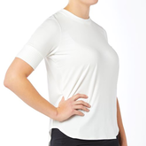 Rib Trim Short Sleeve Top