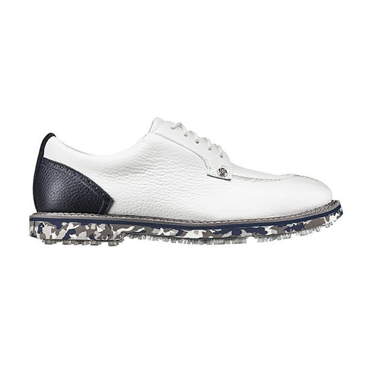 Camo Pintuck Gallivanter Men's Golf Shoe - White/Blue