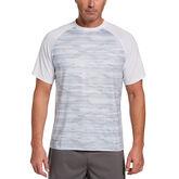 Watercolor Retro Print Short Sleeve Men's Tee Shirt