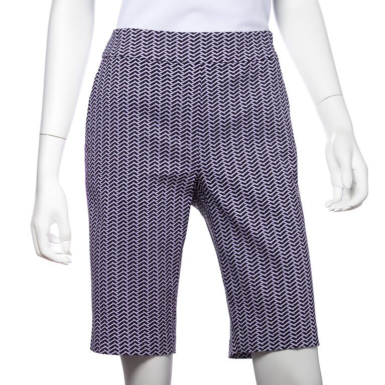 Club Med Group: Tricolor Open Weave Print Compression Short