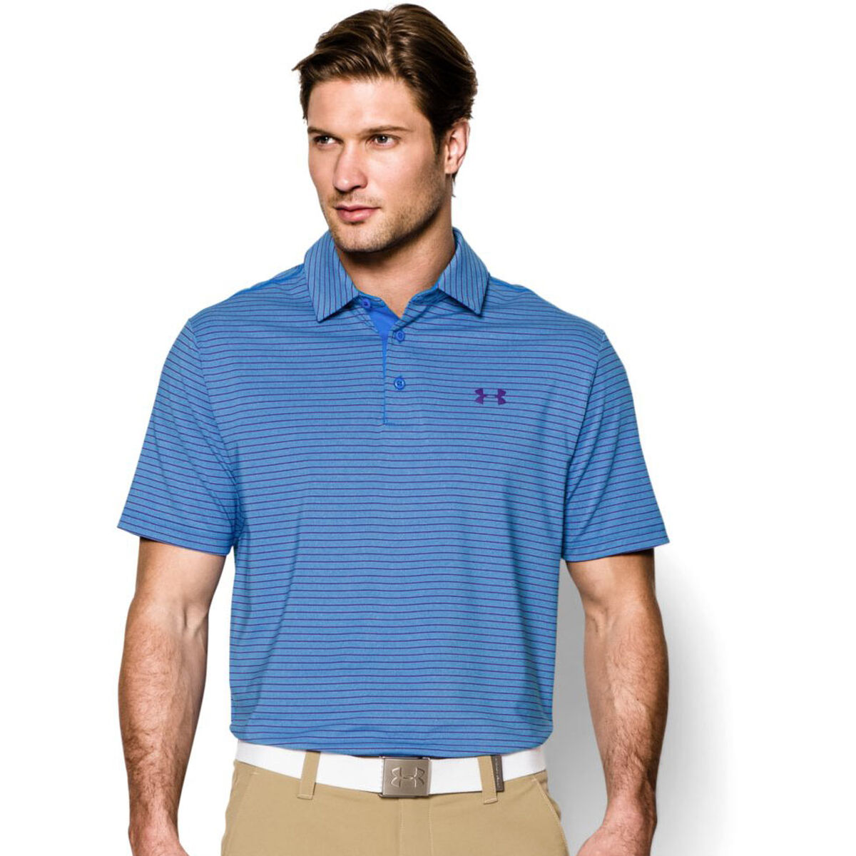 608dd11d Under Armour Heather Stripe Playoff Polo | PGA TOUR Superstore