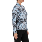 Alternate View 1 of Lady Floral Livcool Quarter Zip Pull Over