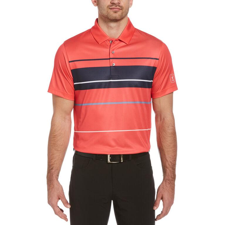 Bold Block Print Short Sleeve Golf Polo Shirt