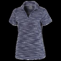 Heathered Slub Short Sleeve Polo Shirt