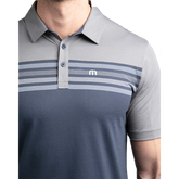 Alternate View 3 of All Day Every Day Short Sleeve Colorblock Stripe Polo