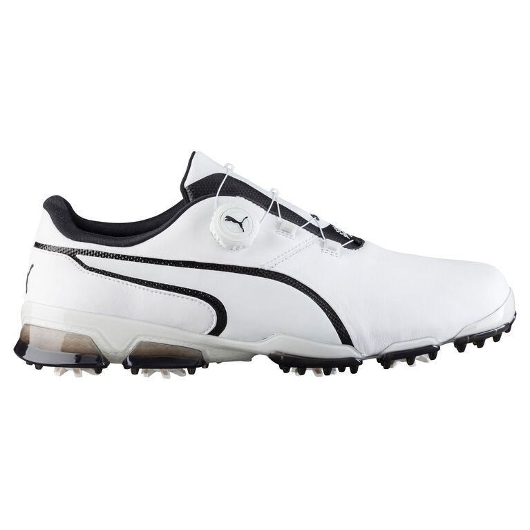 PUMA TITANTOUR Ignite Disc Men's Golf Shoe - White/Black