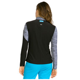 Cyan Group: Long Sleeve Marled Sleeve Quarter Zip