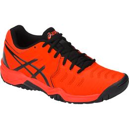 GEL-Resolution 7 GS Boy's Tennis Shoe - Black/Orange