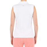 Alternate View 2 of Pink Art Collection: Sleeveless Jacquard Textured Polo