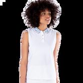 Sportif Collection: Zebra Collar Sleeveless Polo Shirt
