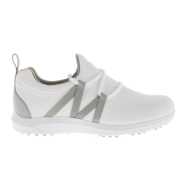 Leisure Slip-On Women's Golf Shoe - White/Grey (Previous Season Style)