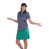 Alternate View 5 of Appletini Collection: Short Sleeve Polka Dot Polo