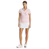 Alternate View 1 of Printed Collar Short Sleeve Tailored Golf Polo