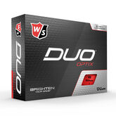 DUO Optix Red Golf Balls