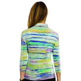 Jamie Sadock 3/4 Sleeve Painters Stripe Polo