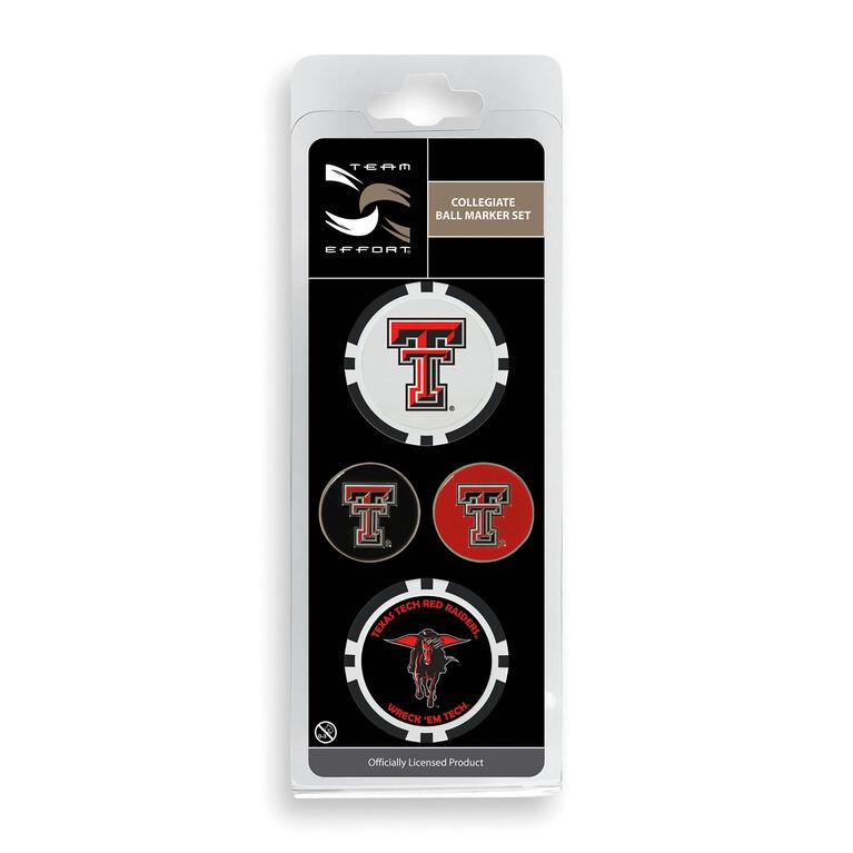 Team Effort Texas Tech Ball Marker