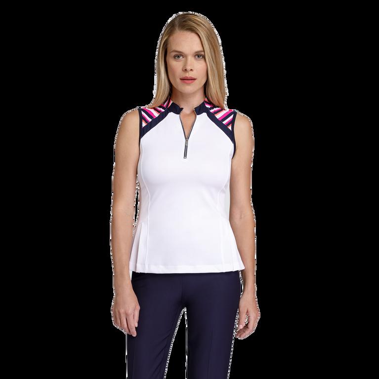 Gem Group: Katelyn Sleeveless Striped Shoulder Top