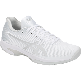 Asics Solution Speed FF Women's Tennis Shoe - White/Silver