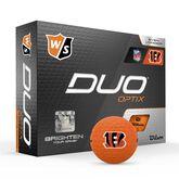 DUO Optix NFL Golf Balls - Cincinnati Bengals
