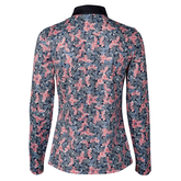 Alternate View 2 of Red Dimension Collection: Malia Long Sleeve Floral Print Quarter Zip Pull Over