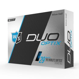 Wilson Staff DUO Soft Optix Blue Golf Balls - Personalized