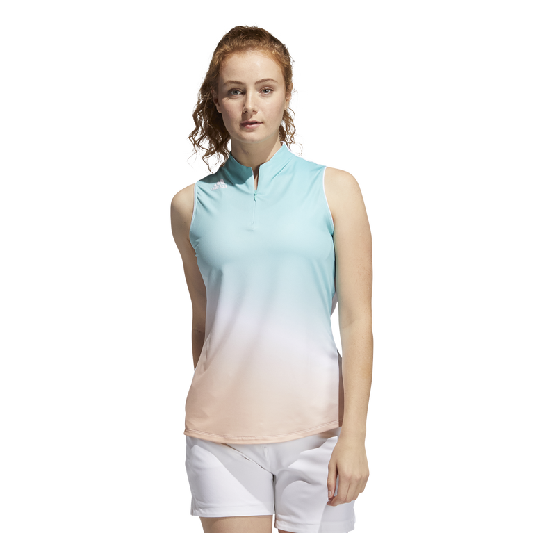 Primegreen Gradient Sleeveless Polo Shirt