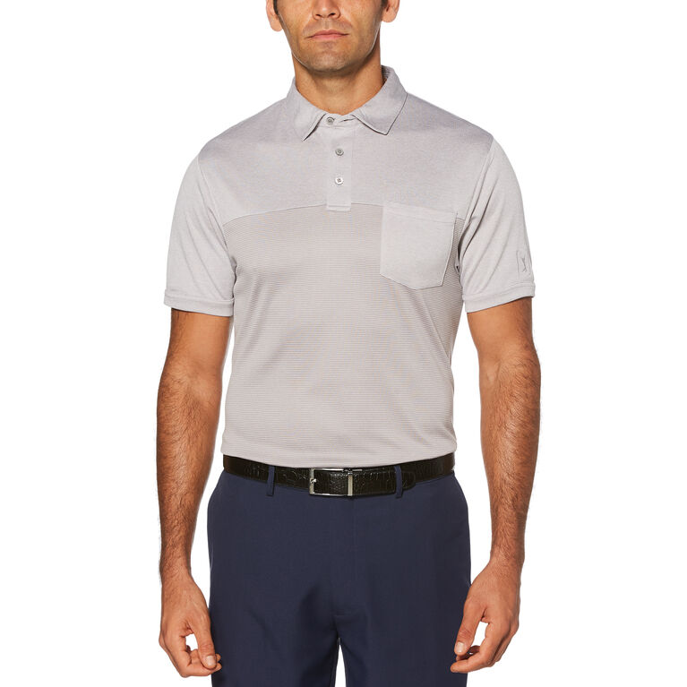 End on End Air Texturized Yarn Short Sleeve Polo Golf Shirt