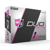Alternate View 1 of Wilson Staff DUO Soft Optix Pink Golf Balls - Personalized