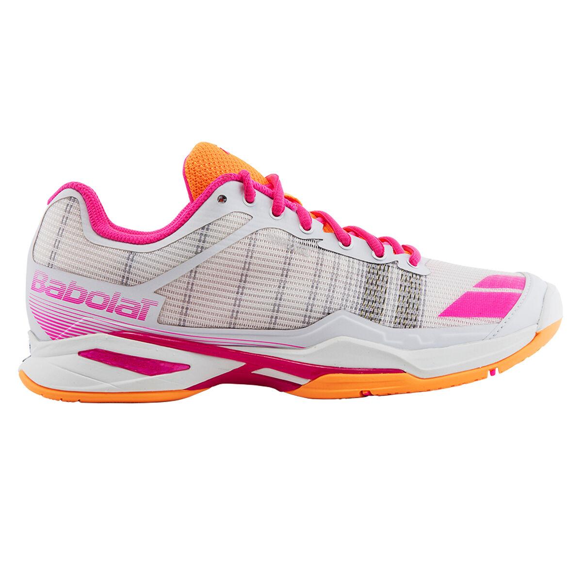 Babolat Tennis Shoes >> Babolat Jet Team All Court Women S Tennis Shoe White Orange Pga