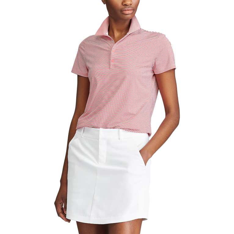 Short Sleeve Striped Airflow Polo Shirt