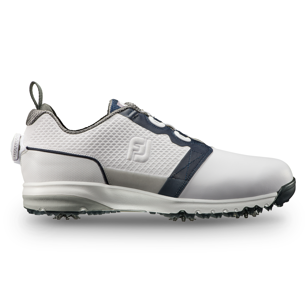 FootJoy Contour FIT BOA Men s Golf Shoe - White Navy 348b610742c