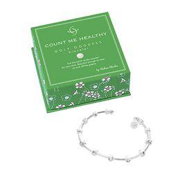 Golf Goddess Silver Stroke Counter Bracelet With Golf Ball Charm