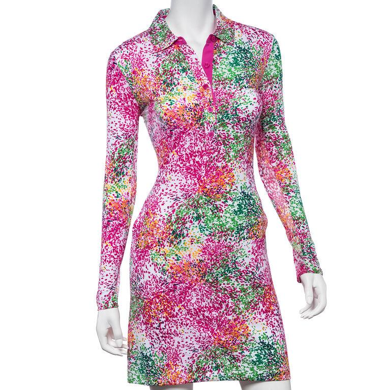 Treasure Island Group: Long Sleeve Starburst Print Dress