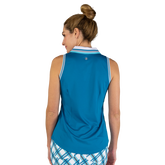 Alternate View 6 of Ocean Breeze Collection: Striped Collar Sleeveless Polo