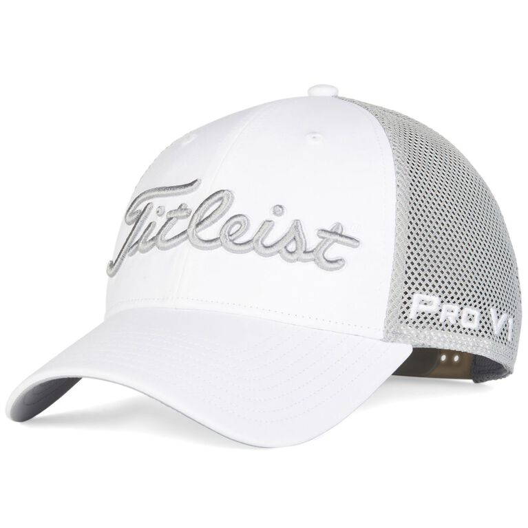 Tour Performance Mesh White Collection Hat