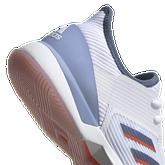 Alternate View 7 of Adizero Ubersonic 3 Women's Tennis Shoe - White/Blue