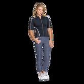 Alternate View 1 of Gracelyn Elbow Sleeve Full Zip Top