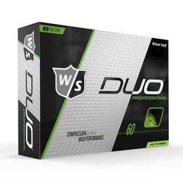DUO Professional Matte Green Golf Balls